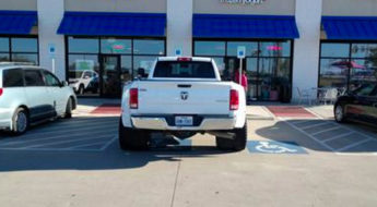 truck parking over the line